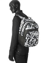 Backpack 2 Compartments Quiksilver Black youth access QYBP3428-vue-porte