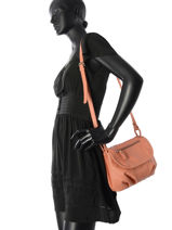 Shoulder Bag Vintage Leather Nat et nin Pink vintage JEN-vue-porte