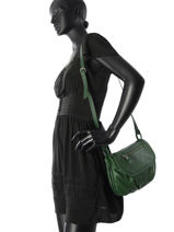 Shoulder Bag Vintage Leather Nat et nin Green vintage JEN-vue-porte