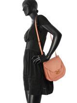 Crossbody Bag Nat et nin Pink vintage ANJA-vue-porte