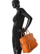Shopping Bag Vintage Leather Nat et nin Brown vintage MACY-vue-porte