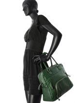 Cabas Macy Cuir Nat et nin Vert vintage MACY-vue-porte