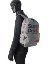 Backpack 1 Compartment Superdry Gray backpack men M91004DQ-vue-porte