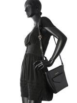 Shoulder Bag Signature Leather Lancaster Black signature 527-19-vue-porte