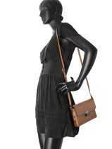 Crossbody Bag Palma Leather Milano Brown palma PA17064N-vue-porte