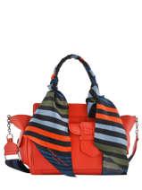 Top Handle Multipocket Leather Sonia rykiel Red multipocket 8180-55