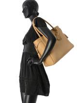 Longchamp Besaces Beige-vue-porte
