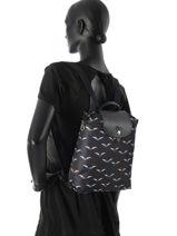Longchamp Backpack Blue-vue-porte