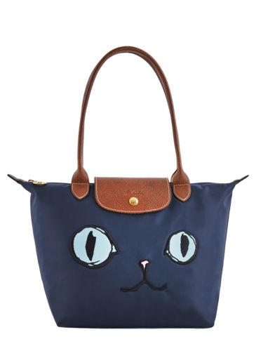 Longchamp Le Pliage « Miaou » Sacs porté travers Bleu