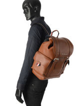 Backpack Tommy hilfiger Brown th casual AM03160-vue-porte