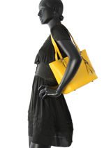 Shoulder Bag Palma Leather Milano Yellow palma PA15013N-vue-porte