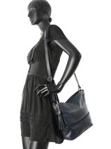 Shoulder Bag  Leather Milano Blue CA17116-vue-porte