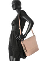 Shoulder Bag  Leather Milano Pink CA17116-vue-porte