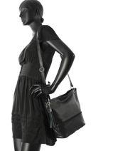 Shoulder Bag  Leather Milano Black CA17116-vue-porte