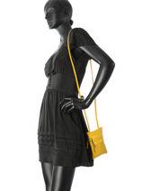 Crossbody Bag  Leather Milano Yellow 1698SA-vue-porte