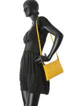 Shoulder Bag  Leather Milano Yellow 6077SA-vue-porte