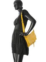 Shoulder Bag  Leather Milano Yellow 6080SA-vue-porte