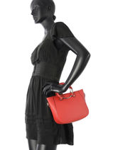 Shopping Bag  Leather Milano Red CA17061-vue-porte
