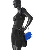 Shoulder Bag Velvet Milano Blue velvet VE17111-vue-porte