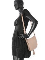 Hobo Bag  Leather Milano Pink 145-vue-porte