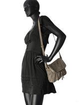 Shoulder Bag Velvet Night Milano Beige velvet night 1007VN-vue-porte