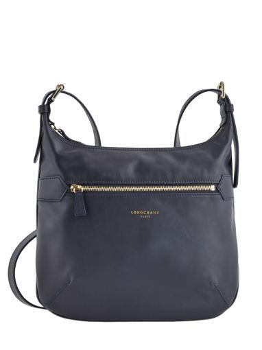 Longchamp Sacs porté travers Bleu
