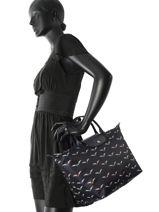 Longchamp Sacs porté main Bleu-vue-porte