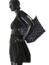 Longchamp Besaces Bleu-vue-porte