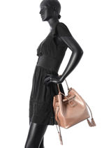 Purse Kyo Leather Etrier Pink kyo EKY604-vue-porte