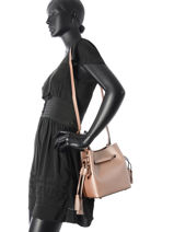 Crossbody Bag Kyo Leather Etrier Pink kyo EKY605-vue-porte