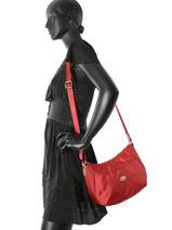 Shoulder Bag Fidele Hexagona Red fidele 323908-vue-porte