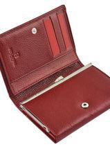 Porte-monnaie Cuir Hexagona Rouge republique 331092-vue-porte