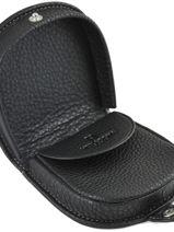 Purse Leather Hexagona Black toucher 627060-vue-porte