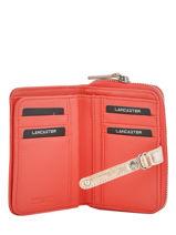Wallet Leather Lancaster Orange soft vintage nova 120-60-vue-porte