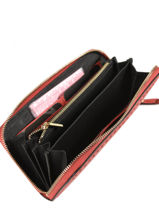 Wallet Leather Etrier Pink tradition EHER901-vue-porte
