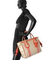 Longchamp Sacs porté main Orange-vue-porte