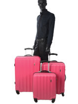Luggage Set Barcelone Travel Pink barcelone 1412-LOT-vue-porte