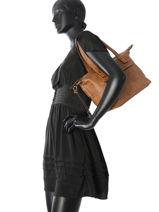Shoulder Bag Soft Lulu castagnette Brown soft INAYA-vue-porte