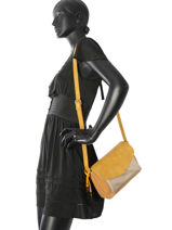 Crossbody Bag Bicolore Lulu castagnette Yellow bicolore INDIRA-vue-porte