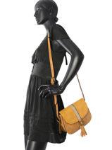 Crossbody Bag Bicolore Lulu castagnette Yellow bicolore ISDORA-vue-porte