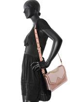 Shoulder Bag Klassik Leather Karl lagerfeld Pink klassik 81KW3023-vue-porte