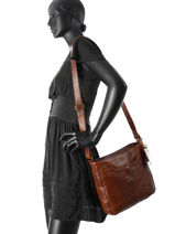 Crossbody Bag Sturdy Romance Leather Cowboysbag Brown sturdy romance 1957-vue-porte