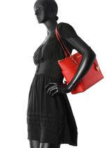 Shopping Bag Jet Set Item Leather Michael kors Red jet set item F2GTTT8L-vue-porte