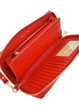 Continental Wallet Leather Michael kors Red mercer F6GM9E9L-vue-porte