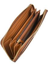Wallet Leather Michael kors Brown money pieces S7GM9E9L-vue-porte