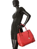 Shopping Bag Annie Leather Michael kors Red annie H7GZ5T7A-vue-porte