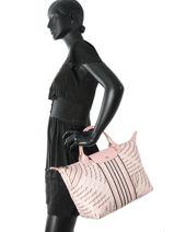Longchamp Sacs porté main Rose-vue-porte