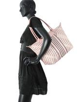 Longchamp Besaces Rose-vue-porte