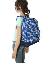 Sac à Dos 1 Compartiment Roxy Bleu backpack RJBP3637-vue-porte