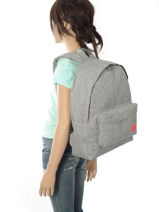 Sac à Dos 1 Compartiment Roxy Gris backpack RJBP3639-vue-porte